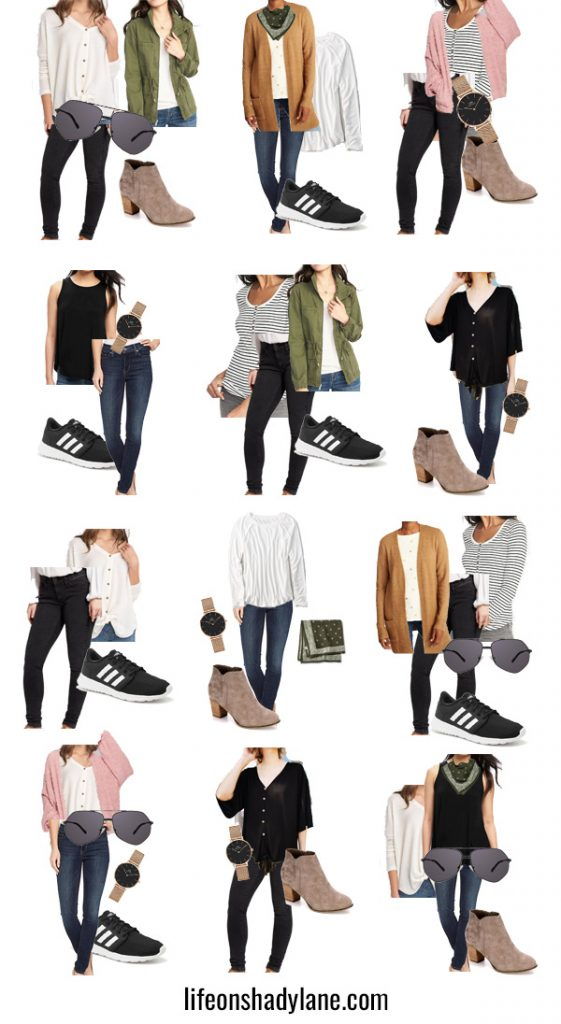 Neutral Fall Capsule Wardrobe - create the perfect Fall wardrobe, endless possibilities with just 15 pieces!