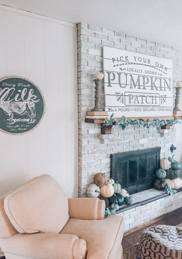 Fall Fireplace