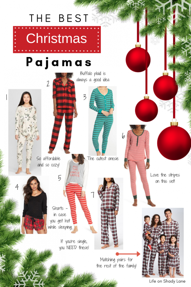 The Best Christmas Pajamas to keep you cozy and looking festive this holiday season! || Life on Shady Lane blog