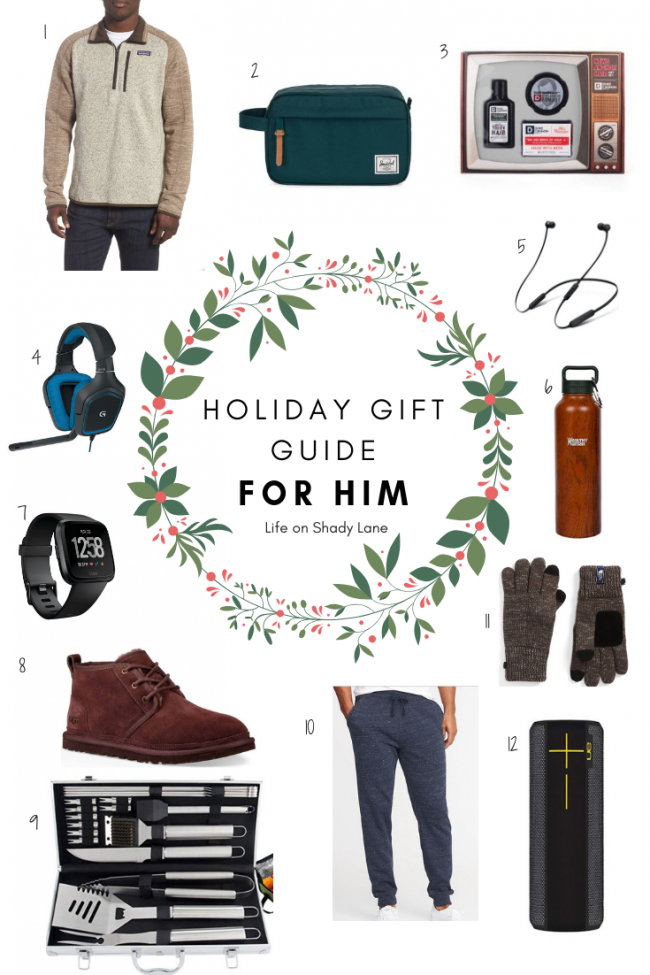 Kansas City Life, Home, and Style blogger Megan Wilson shares her holiday gift guide: for him - the perfect Christmas gifts for all of the men in your life! || Life on Shady Lane blog