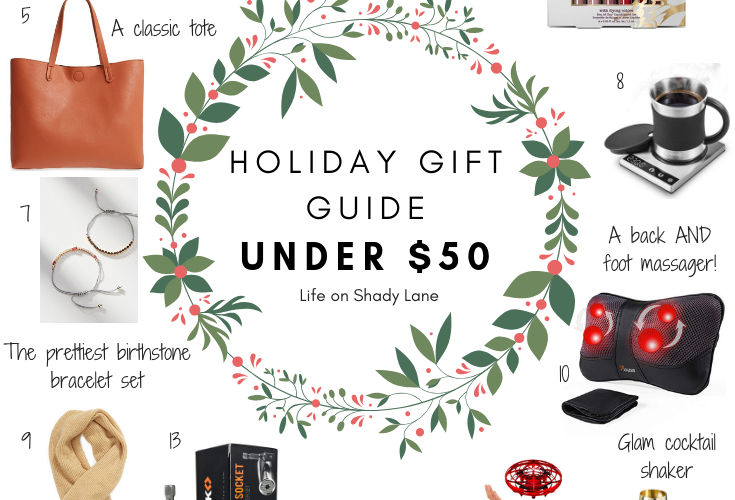 Kansas City Life, Home, and Style blogger Megan Wilson shares her holiday gift guide: under $50 - find the perfect Christmas gift for everyone on your list! || Life on Shady Lane blog
