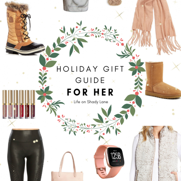 Kansas City Life, Home, and Style blogger Megan Wilson shares her holiday gift guide: for her - the perfect Christmas gift for all of the women in your life! || Life on Shady Lane blog