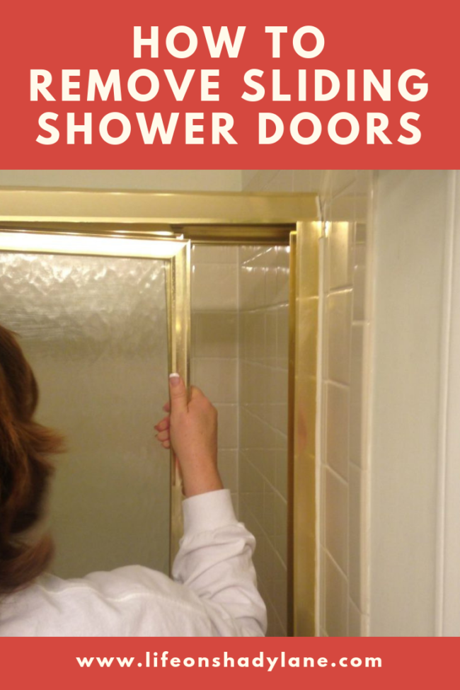 How to (easily!) remove sliding shower doors - via Life on Shady Lane blog | Bathroom updates | How to update an old bathroom