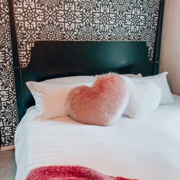 All of the Valentine's Day home decor you need to make your space festive, cozy, and cute for the month of February! Kansas City life, home, and style blogger Megan Wilson shares a roundup of affordable, fun accessories for your home this February! #valentinesday #homedecor