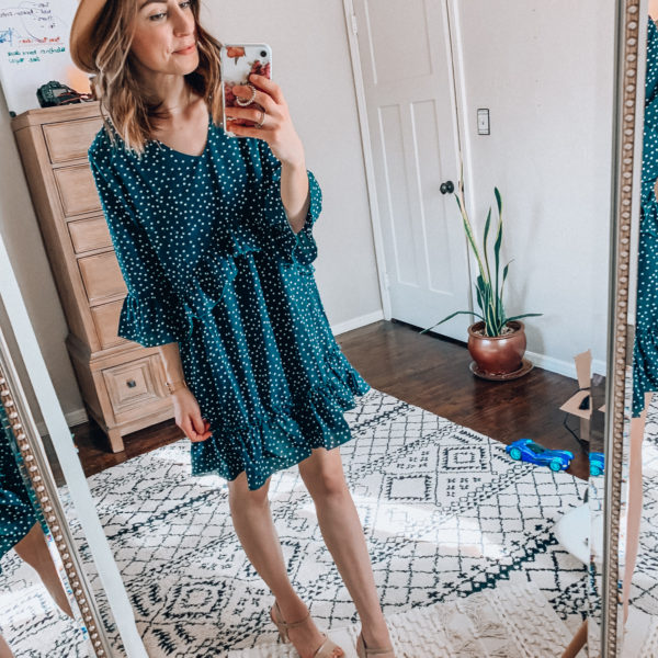 Spring and Summer dress - Casual everyday fashion. Kansas City life, home, and style blogger Megan Wilson shares her Amazon Finds - February | Week 1 - Affordable cute style that's fun and won't break the bank! #amazon #amazonfashion #amazonclothes #amazonfinds
