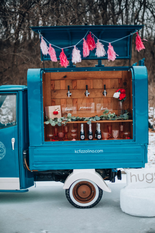 Prosecco truck for weddings, birthdays, or any kind of celebration! | Wedding ideas | What is Galentine's Day? Here's what it is...and how to celebrate! | How to celebrate Galentine's Day | Kansas City life, home, and style blogger Megan Wilson shares ten ways to celebrate Galentine's Day!