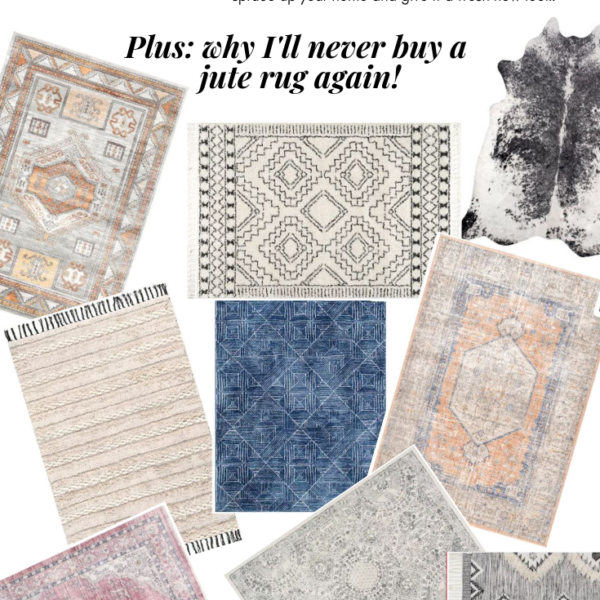 10 affordable + pretty living room rugs to spruce up your home and give it a fresh new look! Plus, I'm sharing why I'll never buy a jute rug again. Kansas City life, home, and style blogger Megan Wilson shares a roundup of 10 living room rugs.