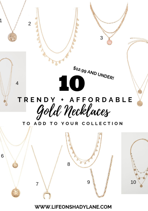 10 Trendy + Affordable Gold Necklaces