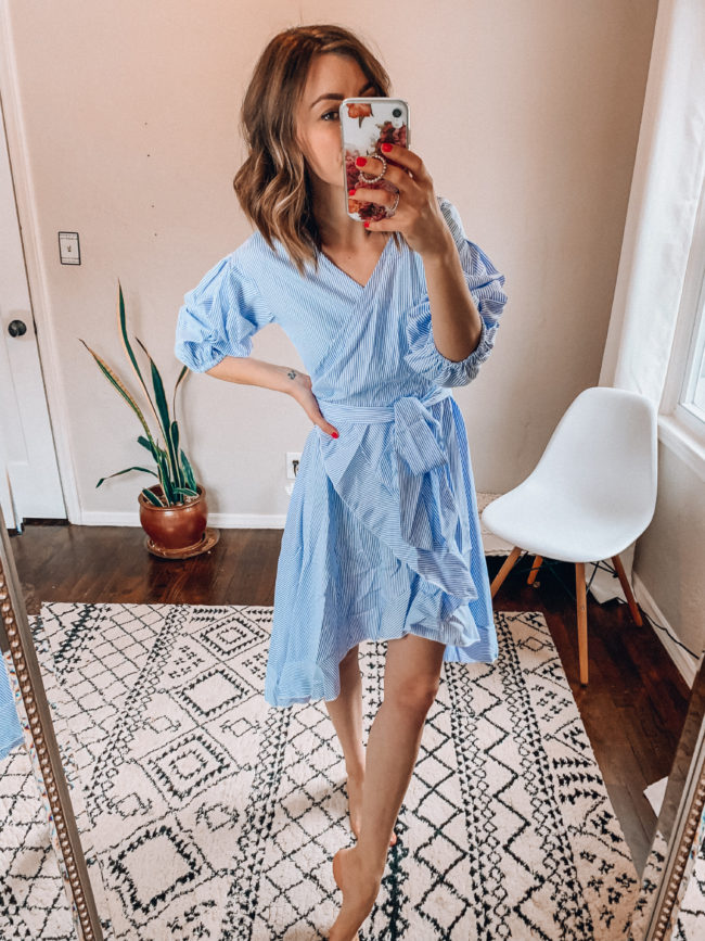 Spring and summer ruffled dress | Casual everyday fashion. Kansas City life, home, and style blogger Megan Wilson shares her Amazon Finds - February | Week 4 - Affordable cute style that's fun and won't break the bank! #amazon #amazonfashion #amazonclothes #amazonfinds