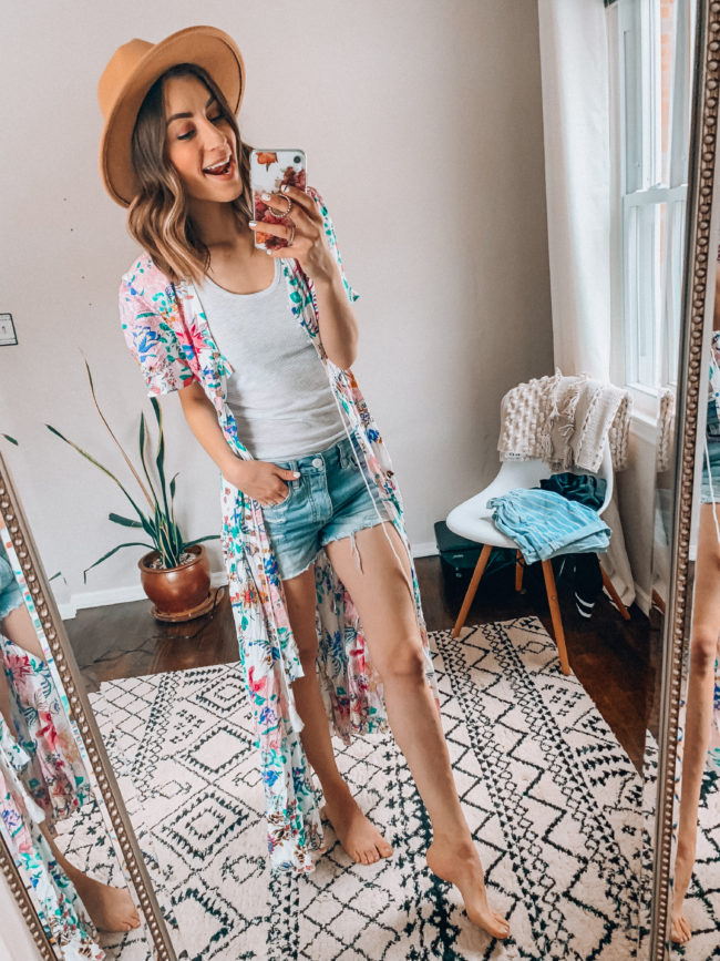 spring and summer dress that can also be worn as a kimono! | Casual everyday spring and summer fashion. Kansas City life, home, and style blogger Megan Wilson shares her Amazon Finds - March | Week 1 - Affordable cute style that's fun and won't break the bank! #amazon #amazonfashion #amazonclothes #amazonfinds
