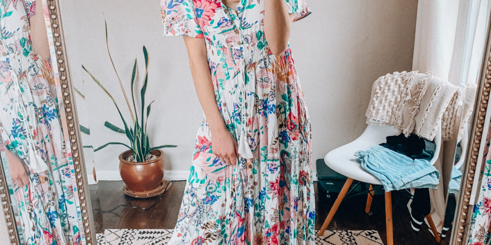 spring and summer dress | Casual everyday spring and summer fashion. Kansas City life, home, and style blogger Megan Wilson shares her Amazon Finds - March | Week 1 - Affordable cute style that's fun and won't break the bank! #amazon #amazonfashion #amazonclothes #amazonfinds