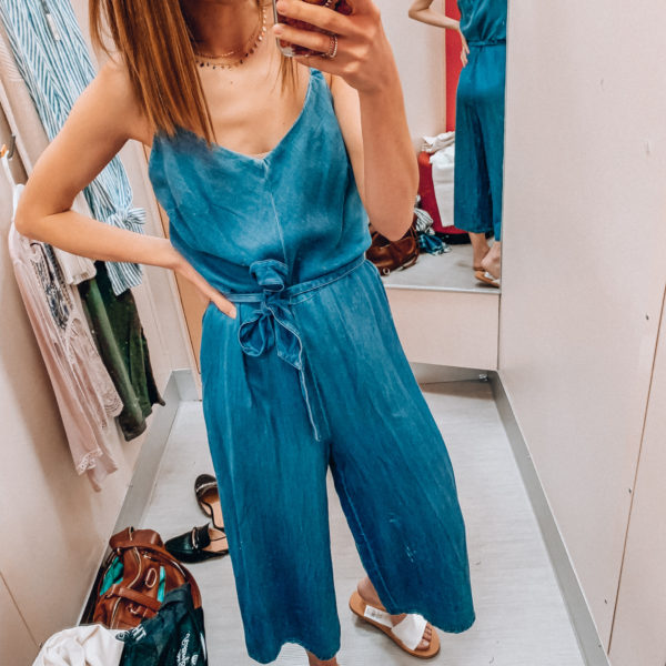 Denim jumpsuit | Casual spring and summer style, spring and summer outfits | Kansas City life, home, and style blogger Megan Wilson shares a Target try-on | March | Life on Shady Lane // @shadylaneblog