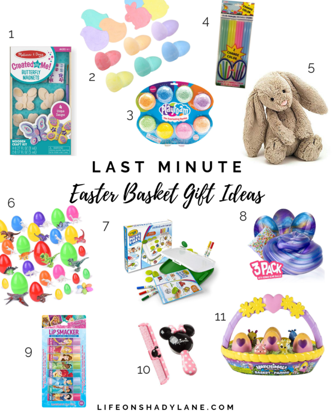 Last minute Easter basket gift ideas - a bunch of items you can still get IN TIME for Easter! || Kansas City life, home, and style blogger Megan Wilson shares several last minute Easter Basket gift ideas for kids