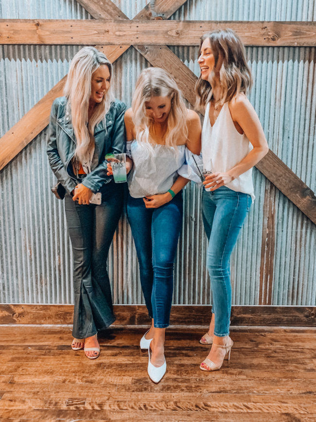 Jeans and a white tank || Casual spring and summer style || What to do in Independence, Missouri - A guide to all the fun stuff! | Kansas City life, home, and style Blogger Megan Wilson shares a staycation trip to Independence, Missouri! #lovethesquare #staycation #visitmissouri