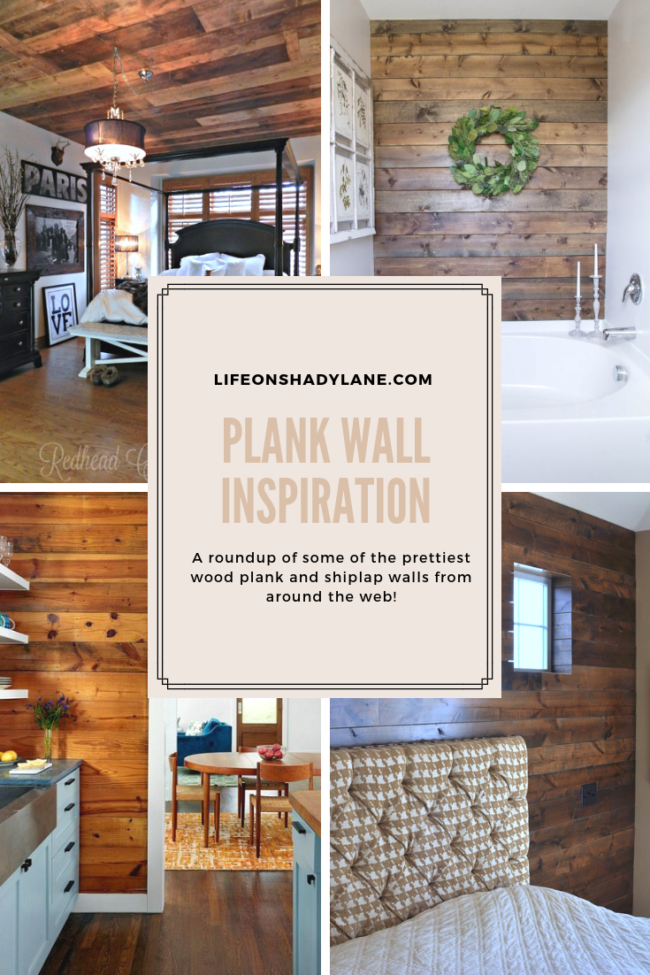 Plank wall inspiration // A roundup of some of the prettiest wood plank and shiplap walls from around the web! Kansas City life, home, and style blogger Megan Wilson shares plank wall inspiration