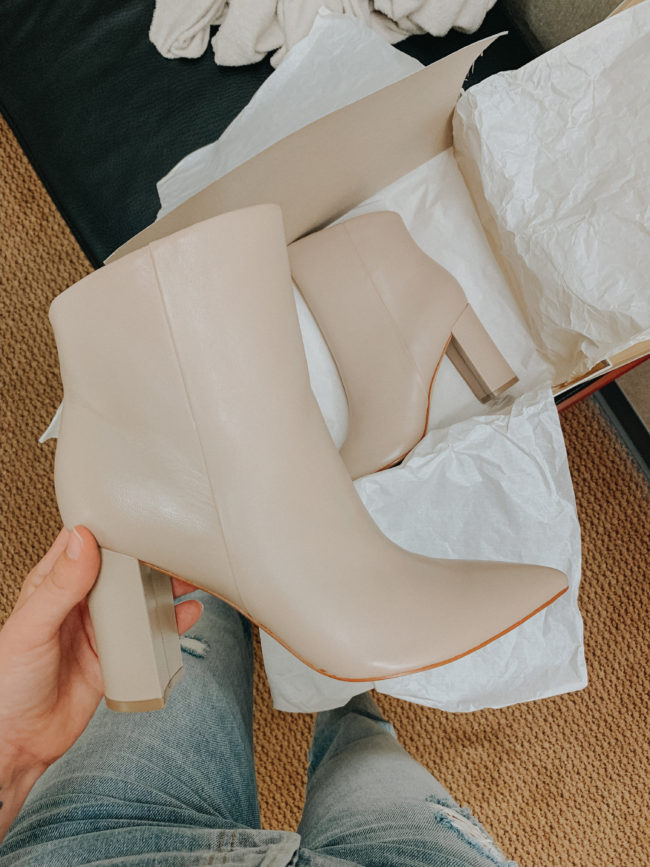 Super chic booties || My current favorites from the month of AUGUST || Kansas City life, home, and style blogger Megan Wilson shares some of her favorite beauty products, clothing, etc. from the month of August