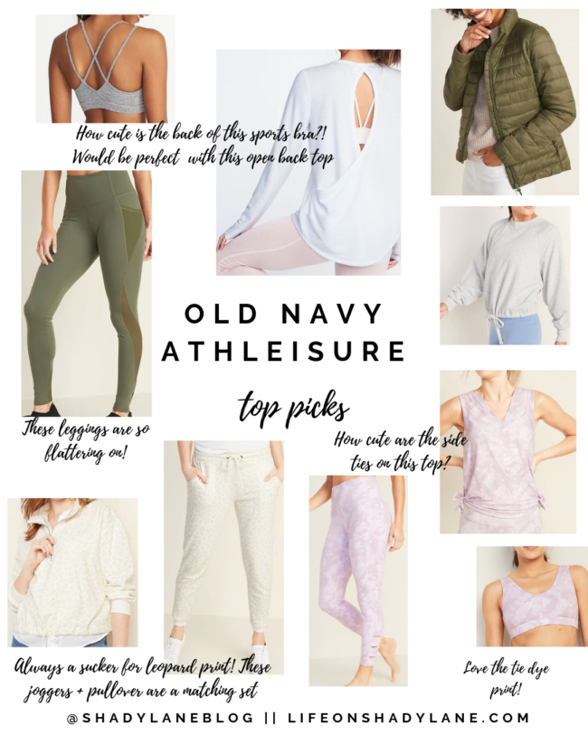 Old Navy Athleisure - my top picks! || Kansas City life, home, and style blogger Megan Wilson share a roundup of affordable athleisure and workout items