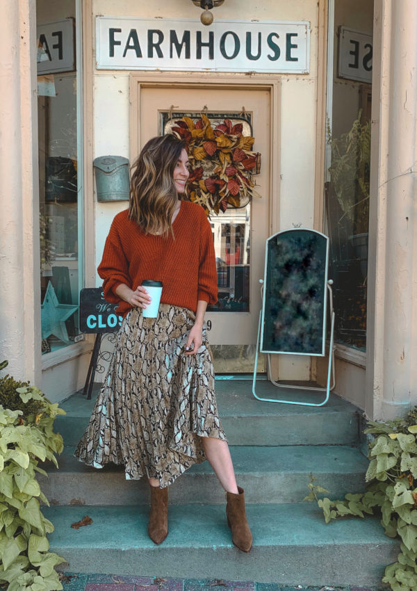 5 Ways to Wear a Snakeskin Print Skirt this Fall
