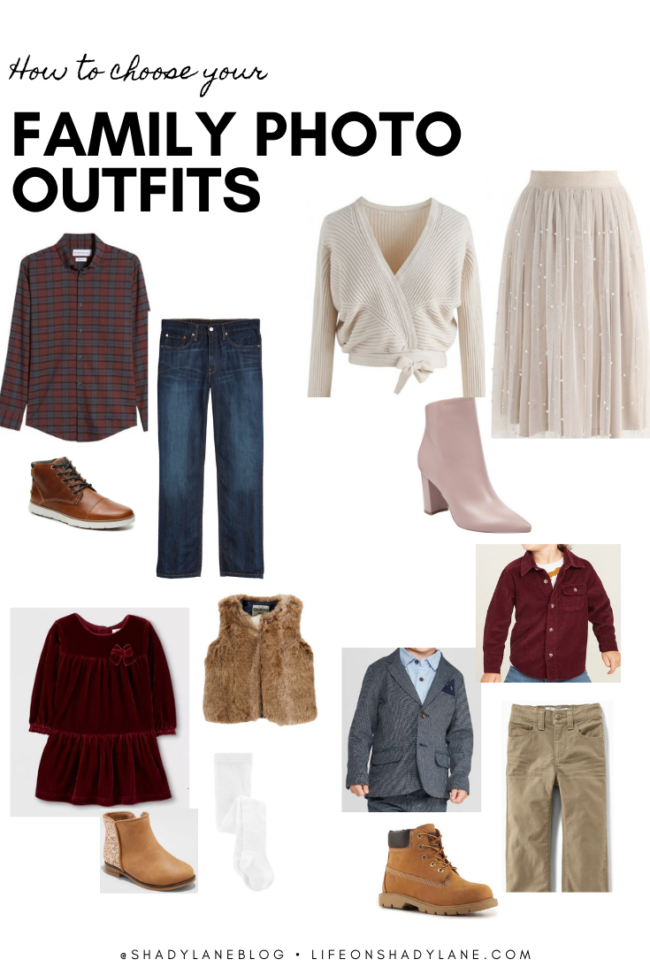 Family photo outfit ideas for fall, christmas, holidays! // Kansas City life, home, and style blogger Megan Wilson shares several coordinating outfit ideas for your family photos