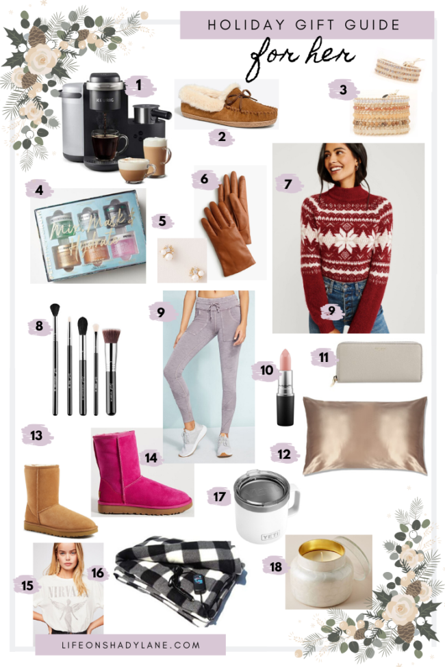 Holiday gift guide for her || The best Christmas gift ideas for women || Kansas City life, home, and style blogger Megan Wilson shares great Christmas gift ideas for women