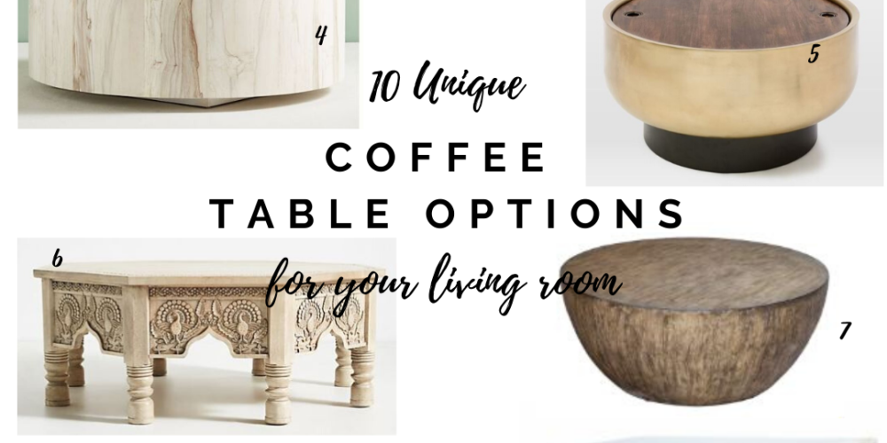 10 unique coffee table options for your living room || Coffee tables that are anything but ordinary! Kansas City life, home, and style blogger Megan Wilson shares her top picks