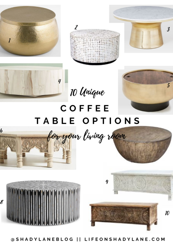 10 Unique Coffee Table Options for your Living Room