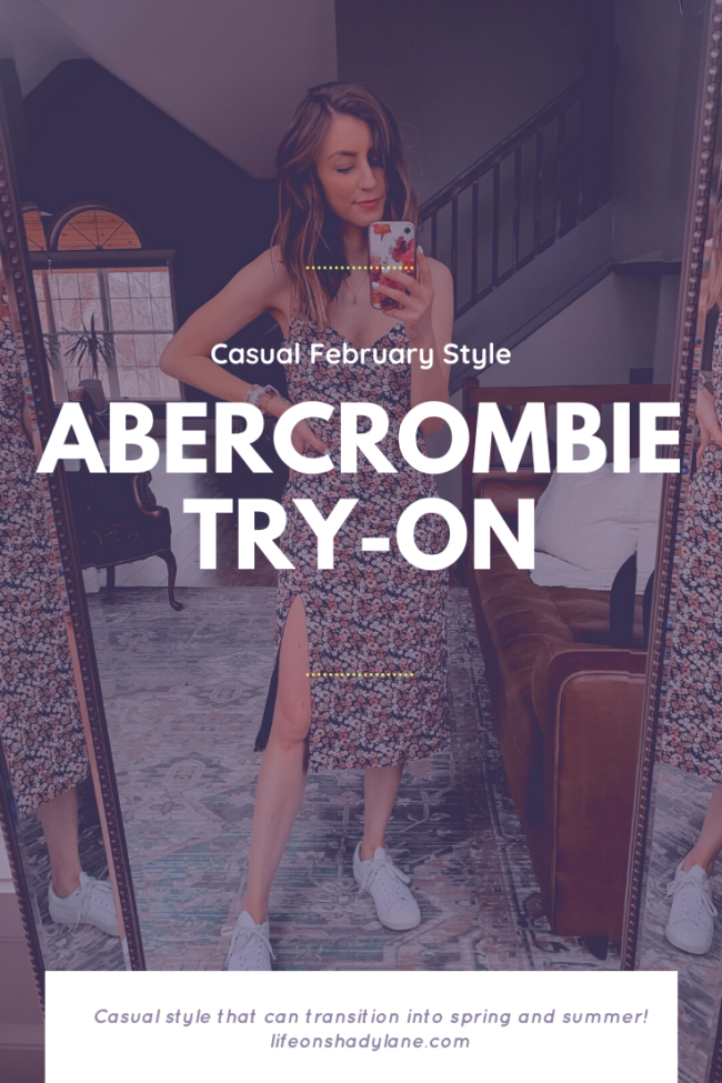 Casual february style try-on from Abercrombie || February Abercrombie try-on || Kansas City life, home, and style blogger shares her casual style picks