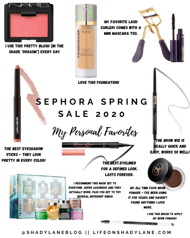 Sephora spring sale 2020 || Hurry and grab your items quick, they sell out fast during this sale! || Kansas City life, home, and style blogger Megan Wilson shares her personal favorites for the sale !