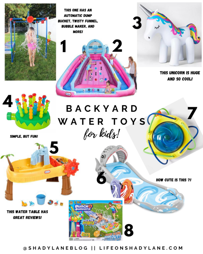 8 Backyard water toys that your kids will LOVE this summer! || Kansas City life, home, and style blogger shares all of her picks!