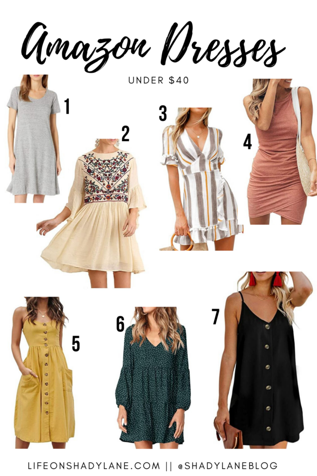 Amazon dresses that are perfect for Summer...and they're all under $40! || Kansas City life, home, and style blogger Megan Wilson shares 7 summer dresses