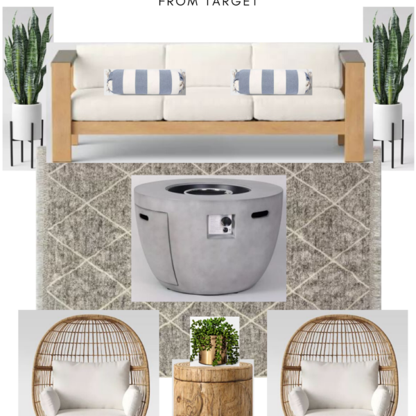 Backyard patio designs || Outdoor furniture from Target || Kansas City life, home, and style blogger Megan Wilson shares patio ideas on a budget