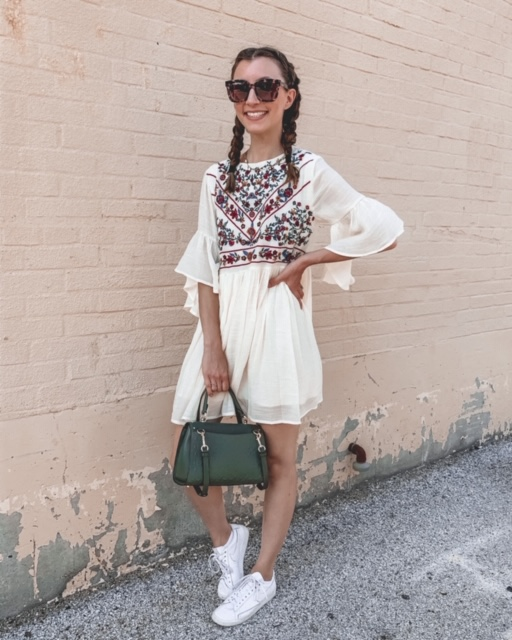 Amazon dress, summer outfits, braided hair | Kansas City life, home, and style blogger Megan Wilson shares her June Instagram Roundup