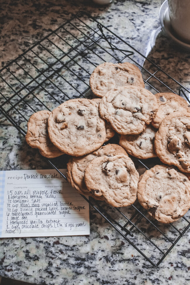 The best chocolate chip cookie recipe || Kansas City life, home, and style blogger Megan Wilson / @shadylaneblog on Instagram
