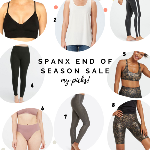 Athleisure and workout clothes, spanx leather leggings and athleisure outfit || SPANX end of season sale || Kansas City life, home, and style blogger