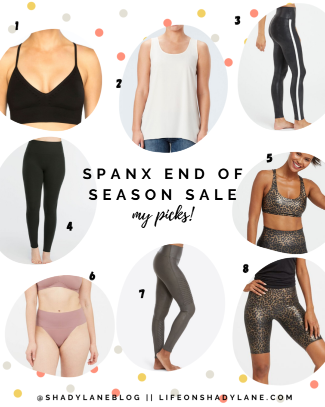 Athleisure and workout clothes, spanx leather leggings and athleisure outfit || SPANX end of season sale || Kansas City life, home, and style blogger Megan Wilson shares her top picks from the SPANX end of season sale