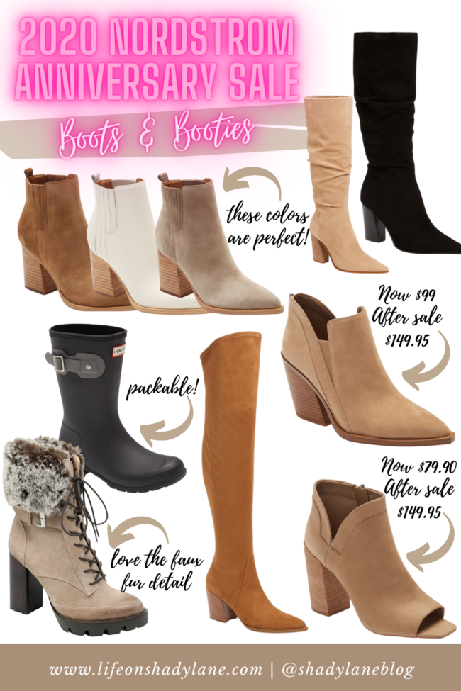 fall boots and booties from the 2020 Nordstrom Anniversary Sale || All the fall outfits and wardrobe staples you'll need this fall!