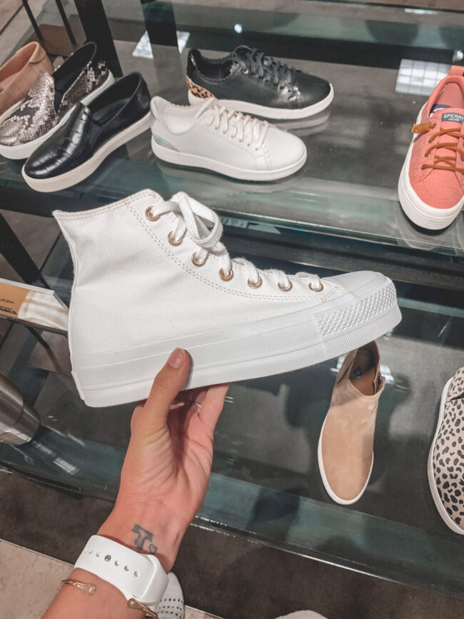 Converse Chuck Taylor high top sneakers | Nordstrom Anniversary Sale 2020 try-on haul and shopping guide | @shadylaneblog