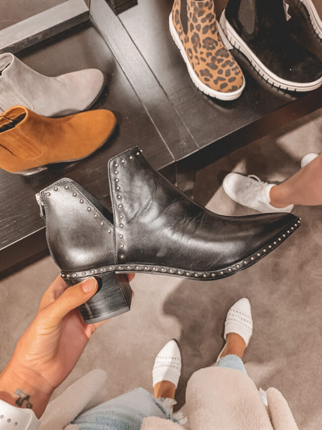 black studded fall booties | Nordstrom Anniversary Sale 2020 try-on haul and shopping guide | @shadylaneblog