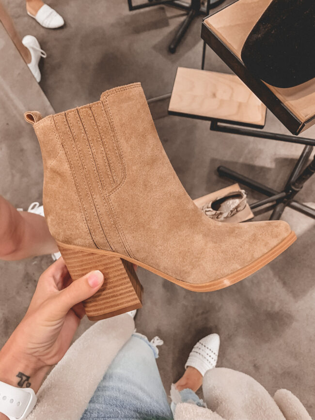 Tan fall booties | Nordstrom Anniversary Sale 2020 try-on haul and shopping guide| @shadylaneblog