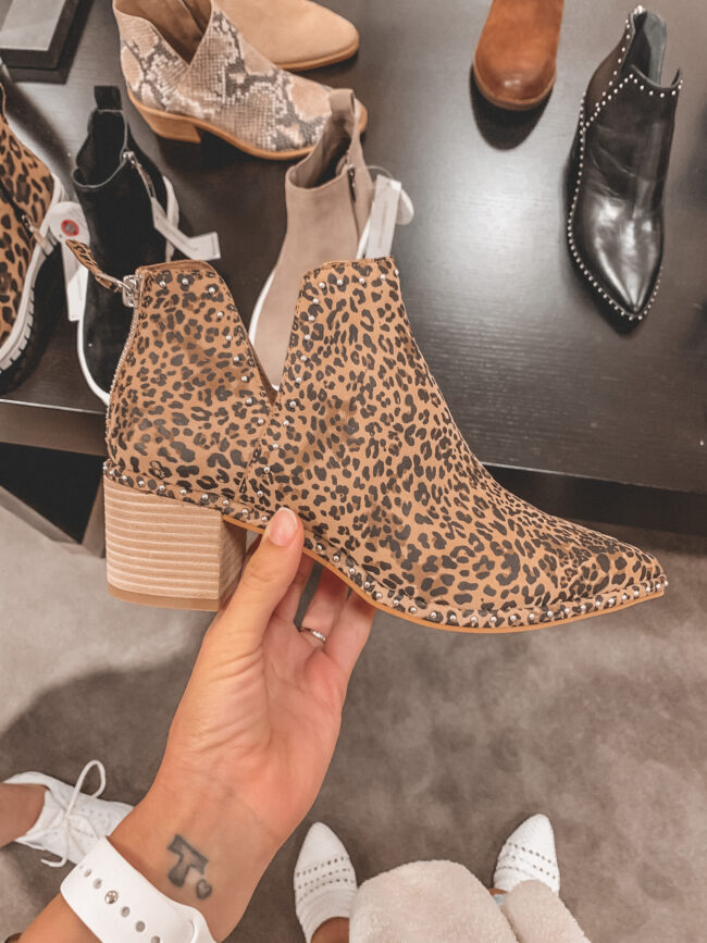 leopard print studded fall booties | Nordstrom Anniversary Sale 2020 try-on haul and shopping guide | @shadylaneblog