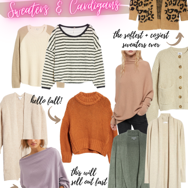 fall sweaters and cardigans from the 2020 Nordstrom Anniversary Sale