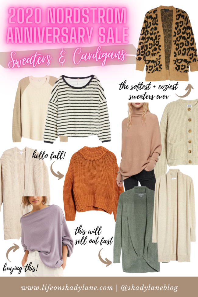 fall sweaters and cardigans from the 2020 Nordstrom Anniversary Sale | All the fall outfits and wardrobe staples you'll need this fall!