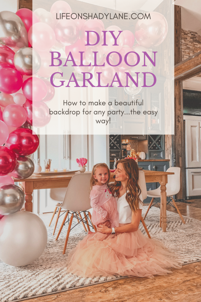How to make a balloon garland! This post will show you a step-by-step guide to creating your own beautiful balloon garland or balloon arch. #balloongarland