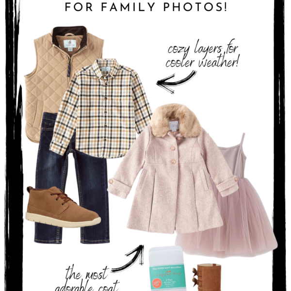 Outfits for family pictures | Ideas for your fall, winter, and Christmas famiy photos with cozy layers for extra warmth.There's something for the whole fam!