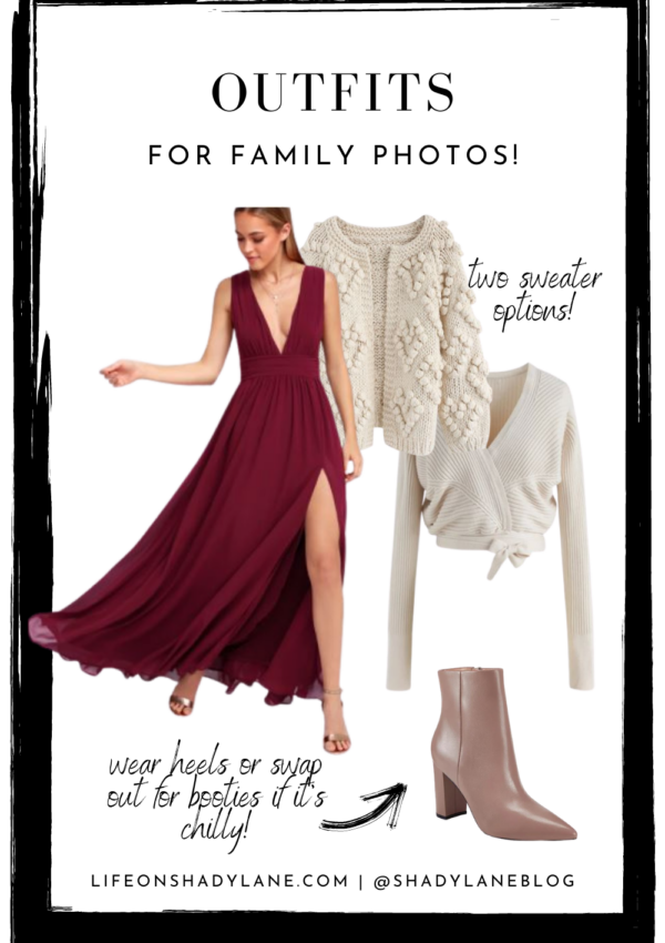 Outfits for fall and holiday family pictures