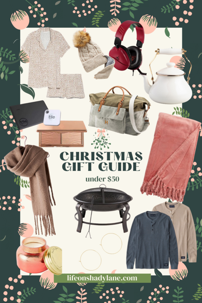 Christmas gifts under $50 | There's something for everybody on your list! | Kansas City life, home, and style blogger Megan Wilson shares Christmas gift ideas under $50
