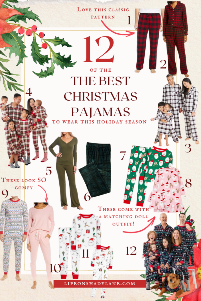 A roundup of the best Christmas pajamas to wear this holiday season - there are matching family pajamas, pajamas for kids, and pajamas for the grown ups, too! | Kansas City life, home, and style blogger Megan Wilson shares Christmas pajamas for the whole family