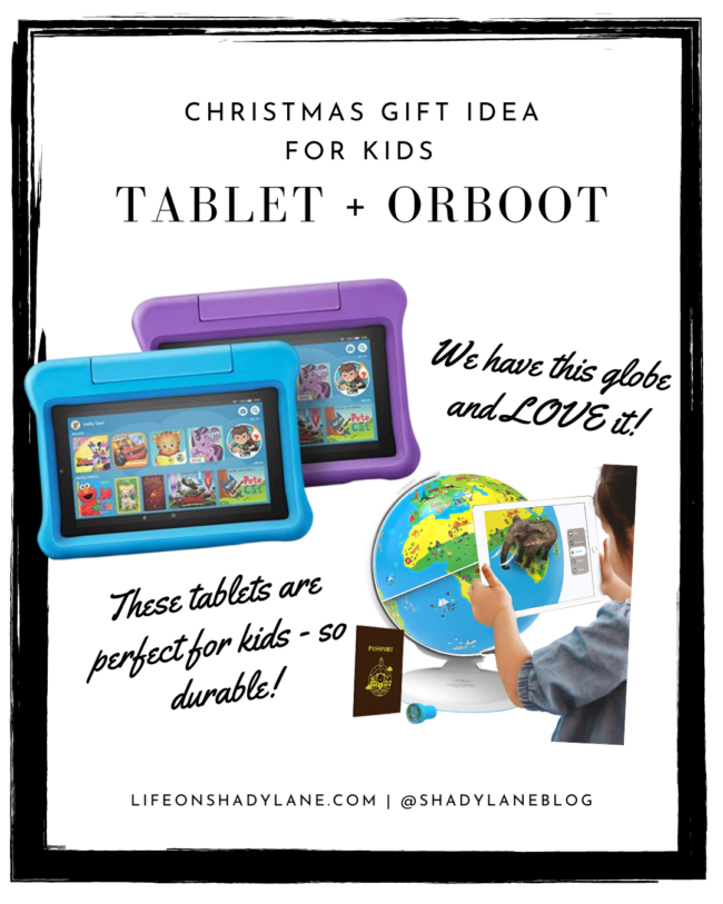 Christmas gift ideas for kids - a Fire tablet + Orboot educational globe. | A roundup of all of the best deals for Black Friday 2020 ! Black Friday deals and Christmas gift ideas | Kansas City life, home, and style