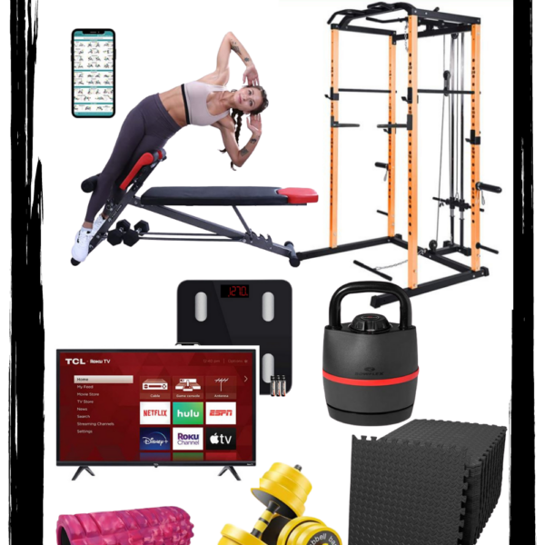 Home gym must haves for an efficient workout at home | Kansas City life, home, and style blogger Megan Wilson shares equipment for a home gym
