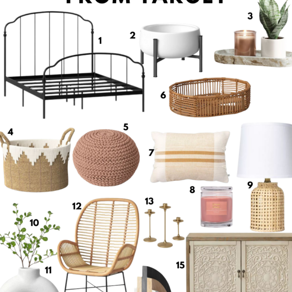 Refresh your home for spring with home decor from Target! Affordable home decor to give your space a mini makeover. Kansas City life, home, and style blogger Megan Wilson shares affordable home decor from Target